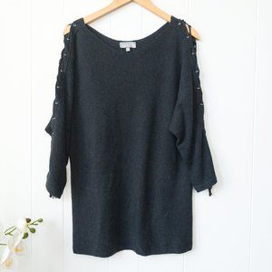 Laura Long Sweater with Laced Arm Detail